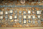 Plaques on the Wall of Comparative Ovations at the Old Timer's Museum in Murphy's, Gold Country (Highway 49), California