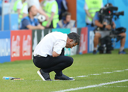 YEKATERINBURG, June 27, 2018  Head coach Juan Carlos Osorio of Mexico reacts during the 2018 FIFA World Cup Group F match between Mexico and Sweden in Yekaterinburg, Russia, June 27, 2018. (Credit Image: © Li Ming/Xinhua via ZUMA Wire)