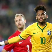 Brazil's Neymar JR (F) during their a international friendly soccer match Turkey betwen Brazil at Sukru Saracoglu Arena in istanbul November 12, 2014. Photo by Aykut AKICI/TURKPIX