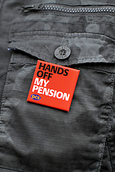 © Licensed to London News Pictures. 29/11/2011, London, UK. Members of the PCS union hold a demonstration outside Downing Street today 29 November 2011, a day before an estimated 2.6 million people will march through London protesting against the Governments controversial pension plans. Photo credit : Stephen Simpson/LNP