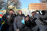 Demonstration by Congolese over killings in Congo