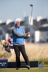 Ruud Gullit playing the second. Alfred Dunhill Links Championship this morning at Championship Course at Carnoustie.