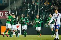FOOTBALL - FRENCH CHAMPIONSHIP 2010/2011 - L1 - AS SAINT ETIENNE v OLYMPIQUE LYONNAIS - 12/02/2011 - PHOTO GUY JEFFROY / DPPI - JOY ASSE