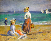Pierre-Auguste Renior, French 1841-1919.  Figures on the Beach.