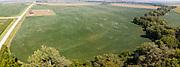 Aerial photograph of a soybean field, near Malvern, Mills County, Iowa, USA.