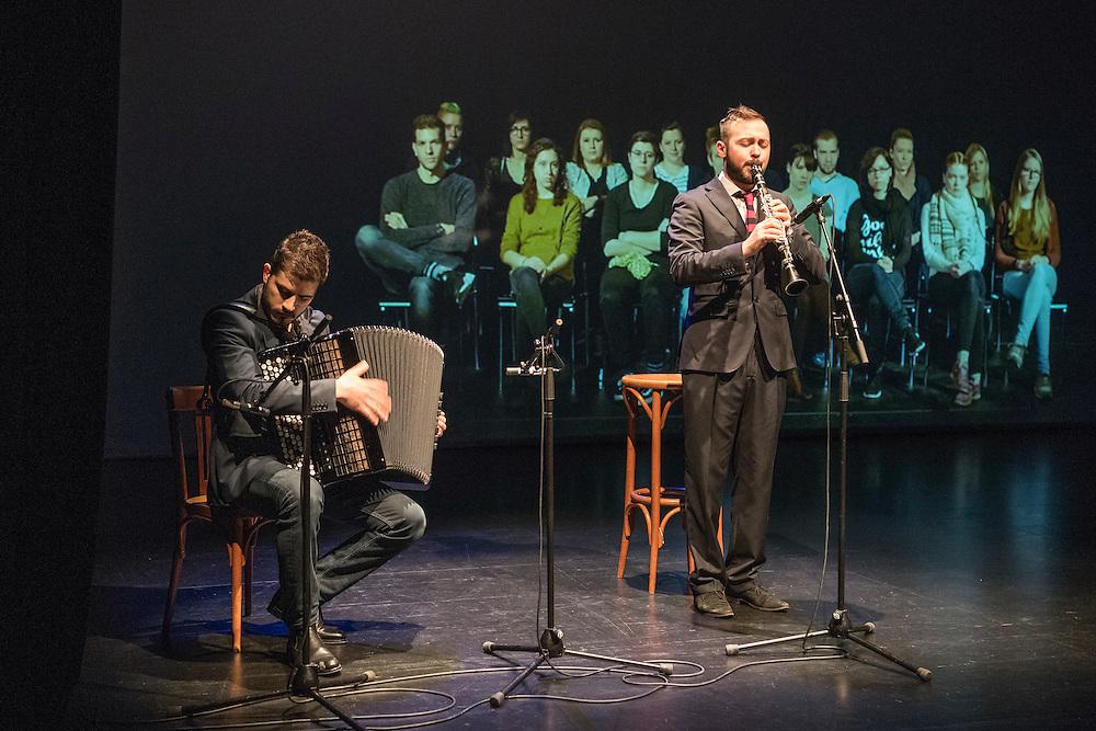 Verleihung Essaypreis 2016. Duo Seraroma. © Adrian Moser