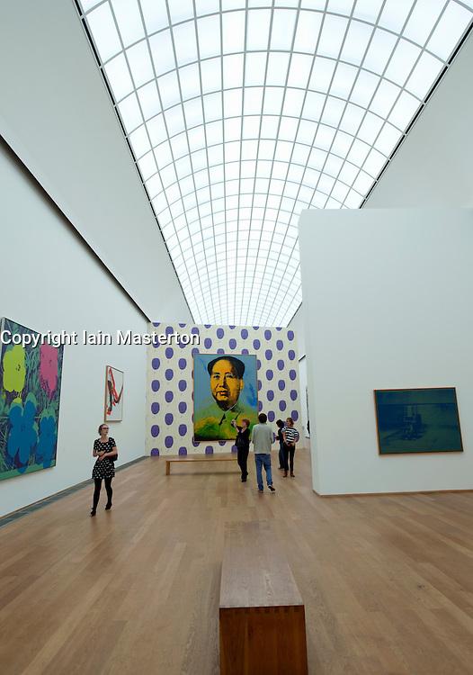 Interior of Hamburger Bahnhof Museum of Contemporary Art in Berlin Germany