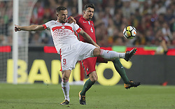 October 10, 2017 - Na - Lisbon, 10/10/2017 - The Portuguese football team received their Swiss counterpart tonight in the last game of the group stage to qualify for the 2018 FIFA World Cup in Russia , next June. Portugal won 2-0 to reach the final. Seferovic and José Fonte  (Credit Image: © Atlantico Press via ZUMA Wire)