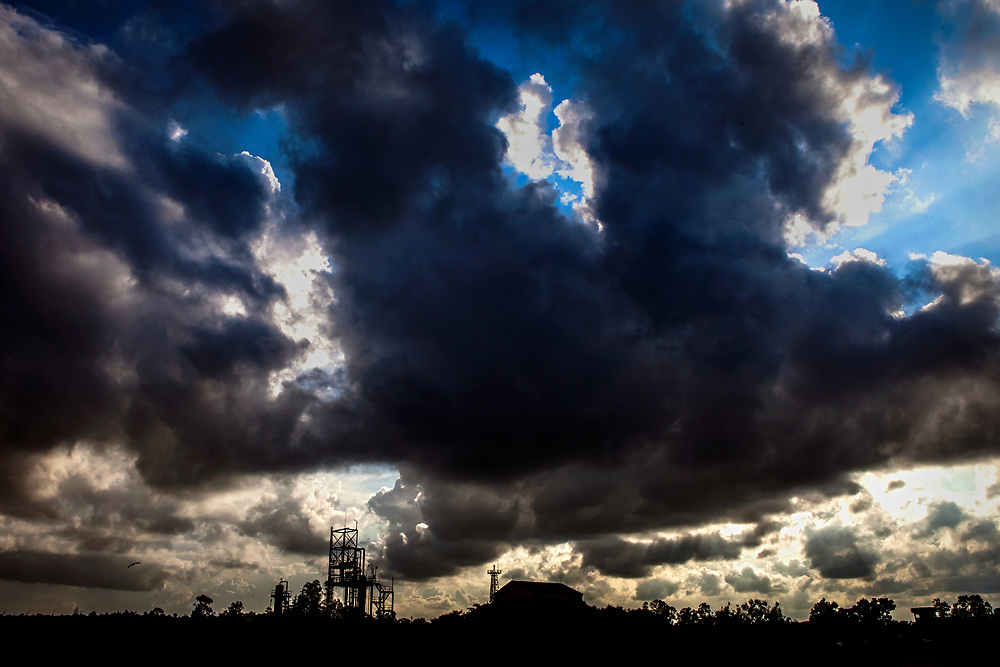 Dark clouds are raising over the abandoned Union Carbide (now DOW Chemical) industrial complex in Bhopal, central India, site of the infamous '1984 Gas Disaster'. The poisonous cloud that enveloped Bhopal left everlasting consequences that today continue to consume people's lives.