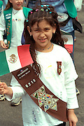 Girl Scout age 9 at Cinco de Mayo festival.  St Paul Minnesota USA
