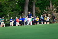Shane Lowry (IRL) walks down the 1st fairway during the 1st round at the The Masters , Augusta National, Augusta, Georgia, USA. 11/04/2019.<br /> Picture Fran Caffrey / Golffile.ie<br /> <br /> All photo usage must carry mandatory copyright credit (© Golffile | Fran Caffrey)