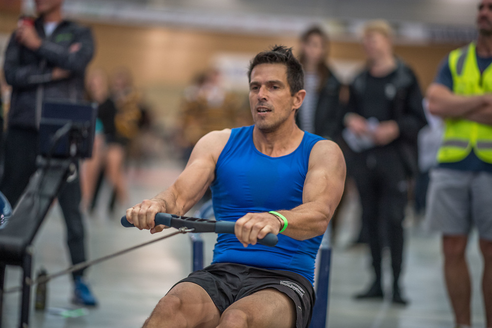 Troy Dolman MALE HEAVYWEIGHT Masters C 2K Race #1 08:30am<br /> <br /> www.rowingcelebration.com Competing on Concept 2 ergometers at the 2018 NZ Indoor Rowing Championships. Avanti Drome, Cambridge,  Saturday 24 November 2018 © Copyright photo Steve McArthur / @RowingCelebration