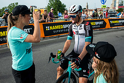 Luka Mezgec with his girlfriend after the Slovenian National Road Cycling Championships 2021, on June 20, 2021 in Koper / Capodistria, Slovenia. Photo by Vid Ponikvar / Sportida
