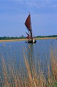 AREJT3 Sailing barge Cygnet River Alde Snape Suffolk England