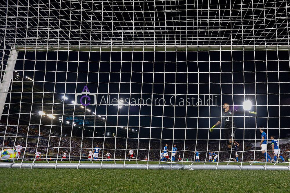 """Foto Alessandro Castaldi<br /> 19/06/2019 Bologna (Italia)<br /> Sport - Italia - Pologna - UEFA Campionati Europei Under-21 2019 - Stadio """"Renato Dall'Ara""""<br /> Nella foto: MERET ALEX (ITALY)<br /> <br /> Photo Alessandro Castaldi<br /> June 16, 2019 Bologna (Italy)<br /> Sport Soccer<br /> Italy vs Poland - UEFA European Under-21 Championship 2019 - """"Renato Dall'Ara"""" Stadium <br /> In the pic: MERET ALEX (ITALY)"""