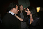 BRENT HOBERMAN, MICHAEL BIRCH AND JOANNA SHIELDS, Launch of Ziv Navoth's book Ð Nanotales. The Groucho Club, London. 22 February 2007. t -DO NOT ARCHIVE-© Copyright Photograph by Dafydd Jones. 248 Clapham Rd. London SW9 0PZ. Tel 0207 820 0771. www.dafjones.com.