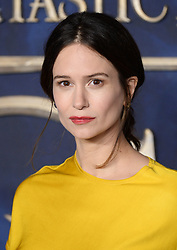 Katherine Waterston attending the Fantastic Beasts: The Crimes of Grindelwald UK premiere held at Leicester Square, London. Photo credit should read: Doug Peters/EMPICS