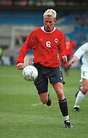 Steffen Iversen, Norge. Norge - Armenia 1-1. Herrelandslaget 2000. VM-kvalifisering 2002. 2. september 2000. (Foto: Peter Tubaas/Fortuna Media)