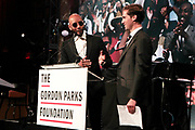 New York, New York- June 6: (L-R) Producer Swiss Beats and Peter Kunhardt, Executive Director, The Gordon Parks Foundation attend the 2017 Gordon Parks Foundation Awards Dinner celebrating the Arts & Humanitarianism held at Cipriani 42nd Street on June 6, 2017 in New York City.   (Photo by Terrence Jennings/terrencejennings.com)