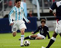 Fotball <br /> FIFA World Youth Championships 2005<br /> Enschede<br /> Nederland / Holland<br /> 11.06.2005<br /> Foto: Morten Olsen, Digitalsport<br /> <br /> USA v Argentina 1-0<br /> <br /> Lionel Messi - Argentina