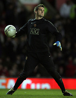 Photo: Paul Thomas.<br /> Manchester United v Middlesbrough. The FA Cup, Quarter Final replay. 19/03/2007.<br /> <br /> Tom Heaton, 3rd choice Utd keeper.