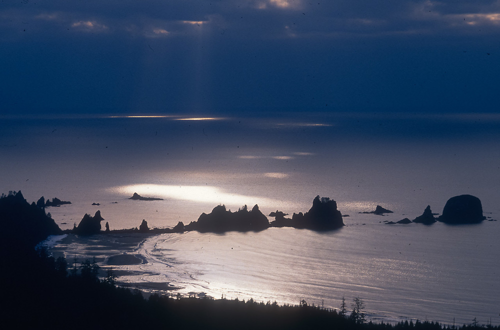 Point of Arches, aerial view, Pacific Coast, Olympic National Park, Washington, USA