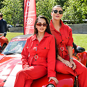 Amy Jackson, Zara Martin attend Cash & Rocket Photocall at Wellington Arch, on 6 June 2019, London, UK
