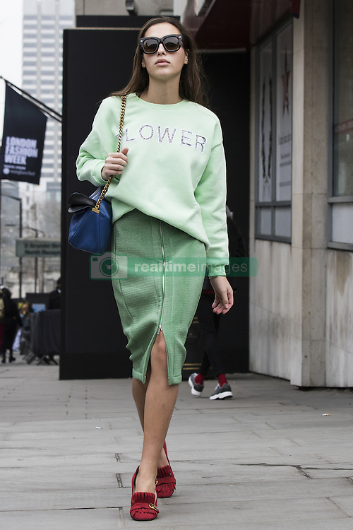 Maxim Magnus arriving at the Ryan Lo Autumn / Winter 2017 London Fashion Week show at 180 Strand, London on Saturday February 18, 2017