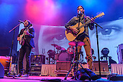 FAIRFAX, VA - February 28th, 2014 - Scott and Seth Avett of The Avett Brothers perform at the Patriot Center in Fairfax, VA. Their latest album, Magpie and the Dandelion, reached #5 on the U.S. Billboard 200 chart. (photo by Kyle Gustafson / For The Washington Post)