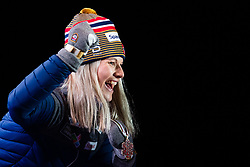 February 22, 2019 - Seefeld In Tirol, AUSTRIA - 190222 Bronze medalist Mari Eide of Norway celebrates with her medal at the medal ceremony for women´s cross-country skiing sprint during the FIS Nordic World Ski Championships on February 22, 2019 in Seefeld in Tirol..Photo: Joel Marklund / BILDBYRÃ…N / kod JM / 87883 (Credit Image: © Joel Marklund/Bildbyran via ZUMA Press)