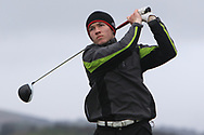 Sean Downes (Royal Dublin) on the 6th tee during Round 3 of the Ulster Boys Championship at Donegal Golf Club, Murvagh, Donegal, Co Donegal on Friday 26th April 2019.<br /> Picture:  Thos Caffrey / www.golffile.ie