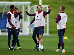 England's Harry Kane high fives his team mates - Mandatory by-line: Matt McNulty/JMP - 29/08/2017 - FOOTBALL - St George's Park National Football Centre - Burton-upon-Trent, England - England Training and Press Conference