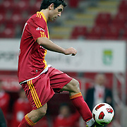 Galatasaray's Juan Emmanuel CULIO during their Turkish superleague soccer derby match Galatasaray between Trabzonspor at the TT Arena in Istanbul Turkey on Sunday, 10 April 2011. Photo by TURKPIX