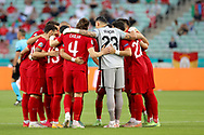 Turkey forms a huddle during the UEFA Euro 2020, Group A football match between Turkey and Wales on June 16, 2021 at Baku Olympic Stadium in Baku, Azerbaijan - Photo Orange Pictures / ProSportsImages / DPPI
