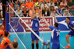 20170525 NED: 2018 FIVB Volleyball World Championship qualification, Koog aan de Zaan<br />Konstantinos Stivachtis (6) of Greece <br />©2017-FotoHoogendoorn.nl / Pim Waslander