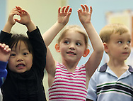 Music Class at Seabury School.  (Photo/John Froschauer)