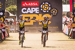 Henrique Avancini and Manuel Fumic of Cannonade Factory Racing win stage 1 of the 2017 Absa Cape Epic Mountain Bike stage race held from Hermanus High School in Hermanus, South Africa on the 20th March 2017<br /> <br /> Photo by Nick Muzik/Cape Epic/SPORTZPICS<br /> <br /> PLEASE ENSURE THE APPROPRIATE CREDIT IS GIVEN TO THE PHOTOGRAPHER AND SPORTZPICS ALONG WITH THE ABSA CAPE EPIC<br /> <br /> ace2016