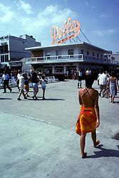 D. Ross Cameron 9/82<br /> <br /> Dolles Salt Water Taffy stand, foot of Rehoboth Avenue, Rehoboth Beach, Del.