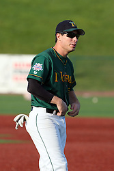 11 August 2012:  Infielder Andrew Cohn during a Frontier League Baseball game between the River City Rascals and the Normal CornBelters at Corn Crib Stadium on the campus of Heartland Community College in Normal Illinois.  The CornBelters take this game in 9 innings 7 - 2 with a 5 run 2nd inning.