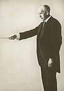 'RichardGeorge Strauss (1864-1949) German composer of late Romantic  and early modern works. His output included opera, lieder, tone poems, andorchestral works.'