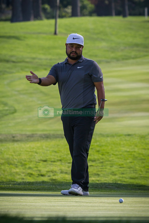 August 5, 2018 - Reno, Nevada, U.S - Sunday, August 5, 2018.Fourth place finisher, J.J. SPAUN, watches a missed putt during the 2018 Barracuda Championship at the Montreux Golf & Country Club. ..The Barracuda Championship Golf Tournament is one of only 47 stops on the PGA Tour worldwide, and has donated nearly $4 million to charity since 1999. Opened in 1997, the par-72 course was designed by Jack Nicklaus, plays at 7,472 yards (6,832 m) and its average elevation is 5,600 feet (1,710 m) above sea level...The Montrux Golf and Country Club is located midway between Reno and Lake Tahoe...The tournament champion, Andrew Putnam, received a check in the amount of $612,000. (Credit Image: © Tracy Barbutes via ZUMA Wire)
