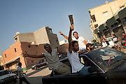Rebels in the street of Tripoli.