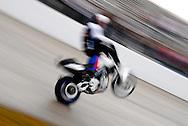 Chris Pfeiffer riding a BMW Motorcycle at Stuntwars 2008 in Lakeland, Florida