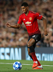 Manchester United's Marcus Rashford during the UEFA Champions League, Group H match at Old Trafford, Manchester. PRESS ASSOCIATION Photo. Picture date:  Tuesday October 2, 2018. See PA story SOCCER Man Utd. Photo credit should read: Martin Rickett/PA Wire. RESTRICTIONS: Use subject to restrictions. Written editorial use only. No commercial use.