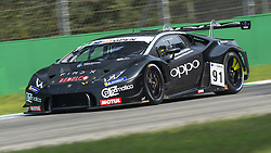 September 22, 2018 - Target Racing Lamborghini Huracan GT3 (Delhez/Costantini) during Qualifying session for Race 1 of International GT Open in Monza, here entering Ascari turns. (Credit Image: © Riccardo Righetti/ZUMA Wire)