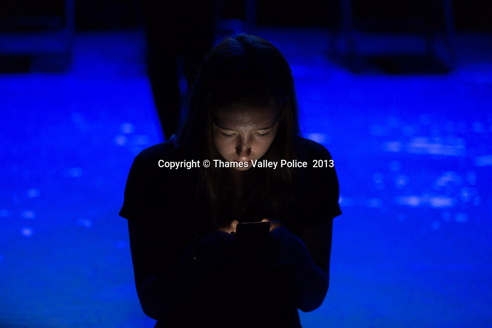 Pupils from Wokingham participate in a drama competition sponsored by Thames Valley Police to highlight the dangers of cyber-bullying. Reading, UNITED KINGDOM. July 01 2013. Photo Credit: MDOC/Thames Valley Police