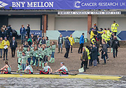 Greater London. United Kingdom, University Boat Races , Cambridge University vs Oxford University. Putney to Mortlake,  Championship Course, River Thames, London. <br /> <br /> Saturday  24.03.18<br /> <br /> [Mandatory Credit  Intersport Images]