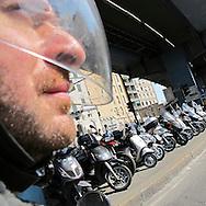 Genova, a man on a scooter