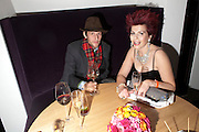 HENRY HUDSON; CLEO ROCOS, Launch of Nicky Haslam's book Redeeming Features. Aqua Nueva. 5th floor. 240 Regent St. London W1.  5 November 2009.  *** Local Caption *** -DO NOT ARCHIVE-© Copyright Photograph by Dafydd Jones. 248 Clapham Rd. London SW9 0PZ. Tel 0207 820 0771. www.dafjones.com.<br /> HENRY HUDSON; CLEO ROCOS, Launch of Nicky Haslam's book Redeeming Features. Aqua Nueva. 5th floor. 240 Regent St. London W1.  5 November 2009.