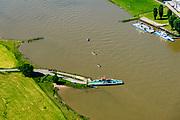 Nederland, Gelderland, Gemeente Lingewaard, 29-05-2019; Looveer, nabij Huissen, veerpont over de Neder-rijn naar het Loo en Westervoort.<br /> Looveer, the ferry across the Lower Rhine.<br /> <br /> luchtfoto (toeslag op standard tarieven);<br /> aerial photo (additional fee required);<br /> copyright foto/photo Siebe Swart